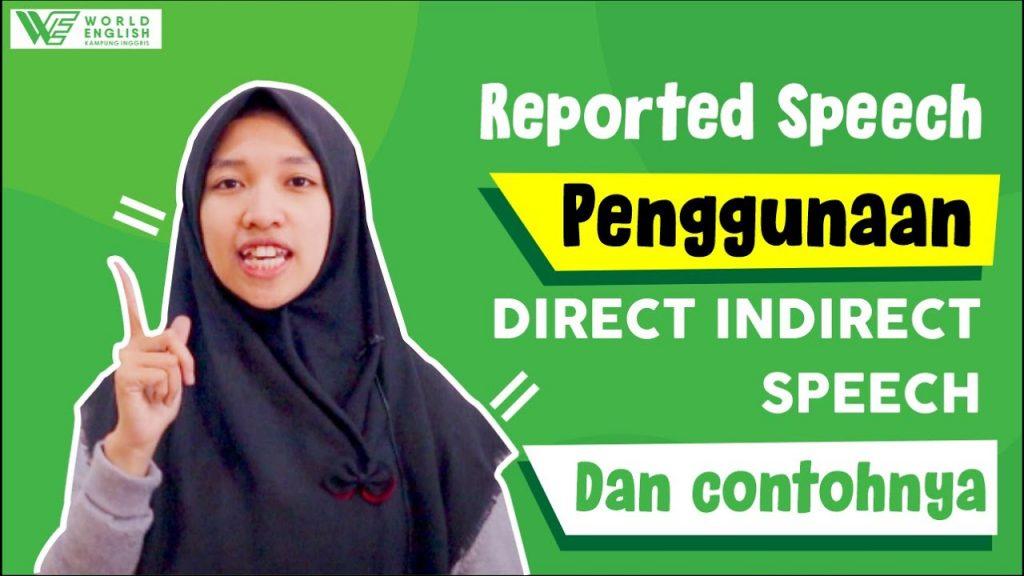 contoh direct indirect speech
